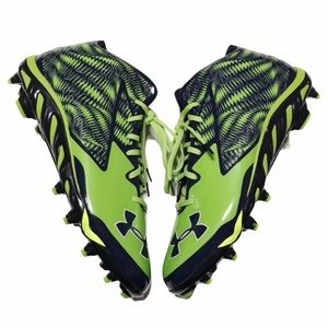 NEW Under Armour Navy & Green Cleats